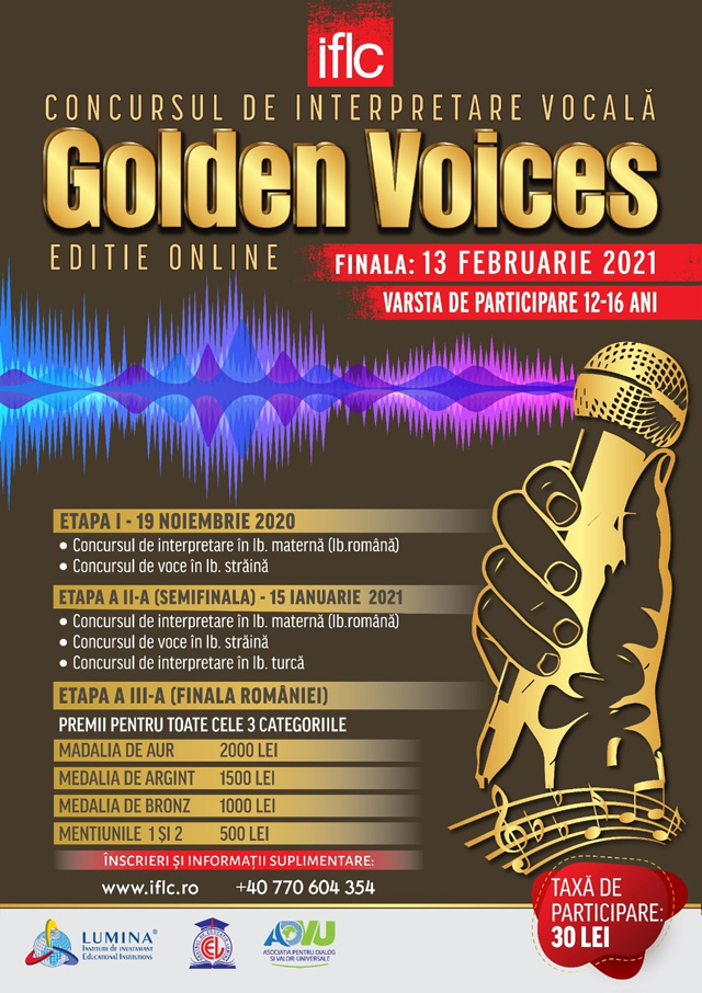 Golden Voices Poster 2020 Dark