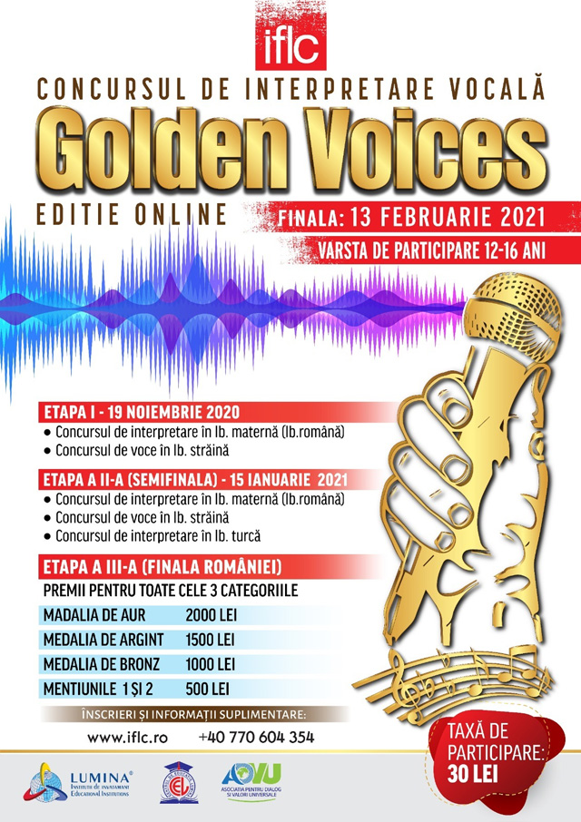 Golden Voices poster 2020 light